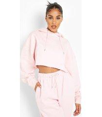 gerecyclede korte hoodie, light pink