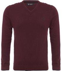 suéter aleatory glad com decote v masculino