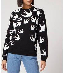mcq alexander mcqueen women's classic sweatshirt - darkest black - l