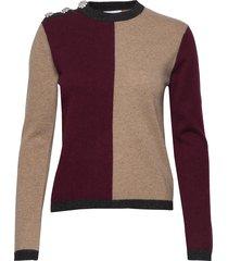 cashmere knit stickad tröja multi/mönstrad ganni