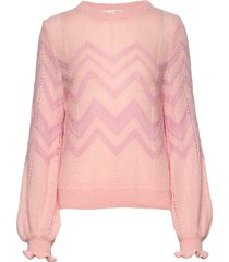 magnetic striped sweater gebreide trui roze odd molly