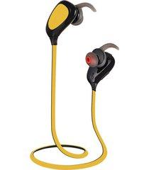 shuua oy4 audífonos bluetooth manos libres inalámbrico 4.0 deportivos hifi música estéreo auriculares a prueba de sudor con mic - amarillo