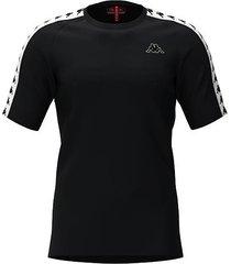 camiseta kappa coen - negro/blanco