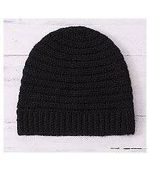 alpaca blend hat, 'chic pattern' (peru)