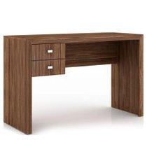 mesa para escritório 2 gavetas me4123 tecno mobili nogal videira marrom
