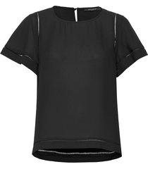camilla olive blouse blouses short-sleeved zwart bruuns bazaar