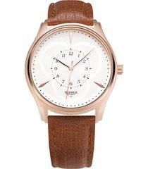 reloj hombres inspección de producción de es para-marrón