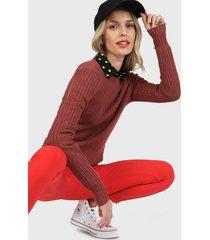 sweater only burdeo - calce ajustado