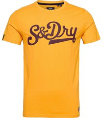 collegiate graphic tee 185 t-shirts short-sleeved gul superdry
