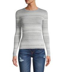 striped cashmere & silk pullover
