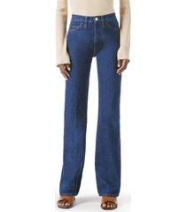 women's frame le italien high waist flare jeans, size 25 - blue
