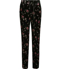 red valentino floral print drawstring waist trousers