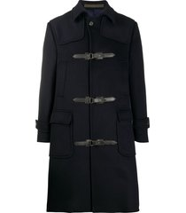 eleventy buckle cashmere duffle coat - blue