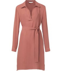 belted midi dress with pockets