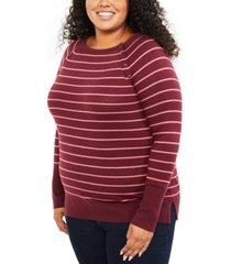 motherhood maternity plus size striped nursing top