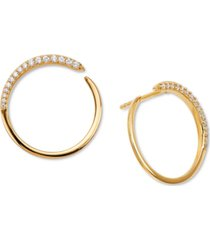 ava nadri crystal wrap-around hoop earrings