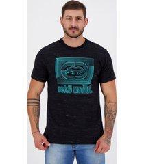 camiseta ecko neon estampada preta mescla