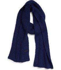 women's rebecca minkoff traveling rib scarf, size one size - blue
