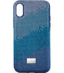 custodia per smartphone con bordi protettivi crystalgram, iphoneâ® xs max, azzurro