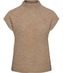 kalka vest knit vests knitted vests bruin soft rebels