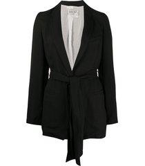 forte forte oversized belted blazer - black