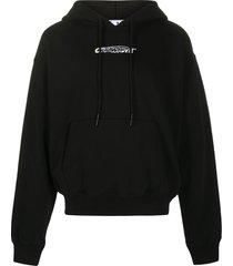 off-white hand painters hoodie - black