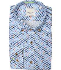 bos bright blue overhemd blauw mf 21.20sh002.5/316