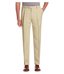 traveler collection performance traditional fit pleated front pants - big & tall clearance by jos. a. bank