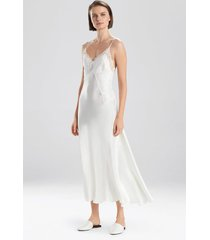 jolie silk gown pajamas / sleepwear / loungewear, women's, white, 100% silk, size xs, josie natori