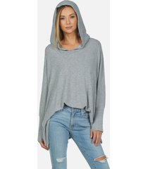 dash core oversized hoodie - heather grey m/l