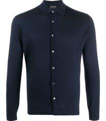 dell'oglio collared knitted sweatshirt - blue