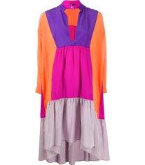 jejia colour-block tunic dress - orange