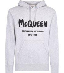 alexander mcqueen branded hoodie