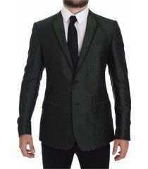 slim fit silk twee button blazer