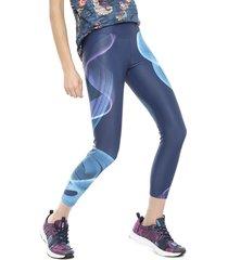 legging desigual posicional arty azul - calce ajustado