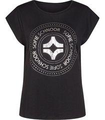katoenen t-shirt met opdruk nicoline  zwart