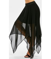layered handkerchief chiffon skirt