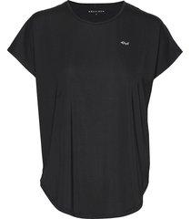 leo loose top t-shirts & tops short-sleeved svart röhnisch