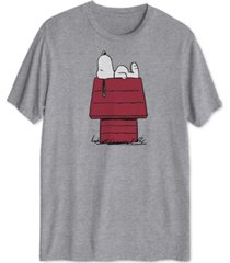 snoopy doghouse men's graphic t-shirt