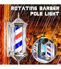 eur plug peluquería de pole giratorios rayas leves inscripción estilos hair salon nueva rojo blanco azul negro multic 70 * 26 * 20 cm - negro