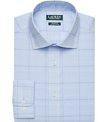 lauren by ralph lauren blue check regular fit dress shirt