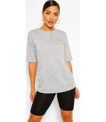 setje van mixed oversized t-shirt en fietsbroek, grijs