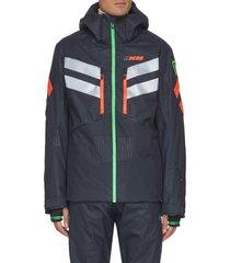 hero' neon stripe hood ski jacket