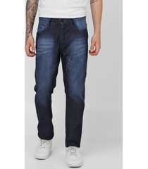 calça jeans fatal slim estonada azul-marinho