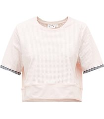 anela stretch-jersey cropped t-shirt