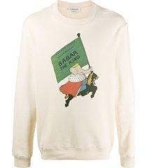 lanvin babar print sweatshirt - neutrals