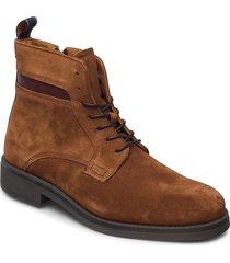brookly mid lace boot snörade stövlar brun gant
