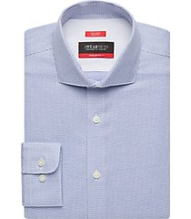 awearness kenneth cole awear-tech cole blue mini check slim fit dress shirt