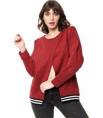 sweater bordó felisa triangulo
