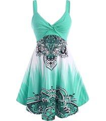 twisted dip dye bohemian flower dress